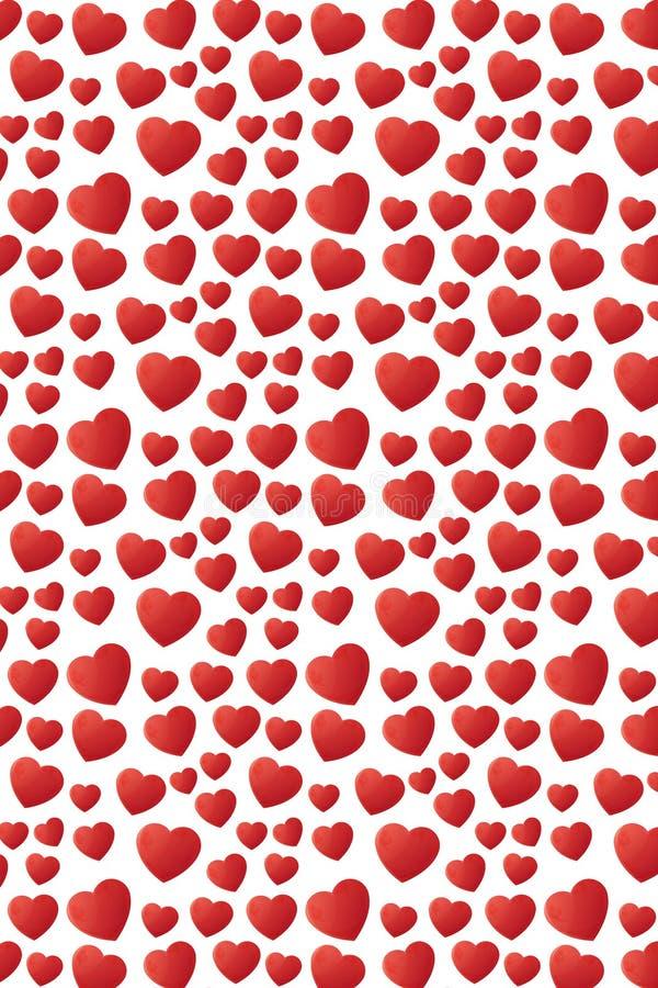 Reizendes fallendes nahtloses Musterdesign der Herzen stockfotografie