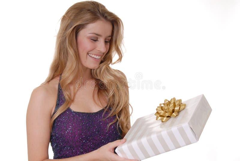 Reizendes Geschenk zwei lizenzfreie stockbilder
