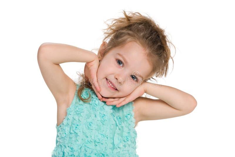 Reizendes kleines Mädchen lizenzfreies stockbild
