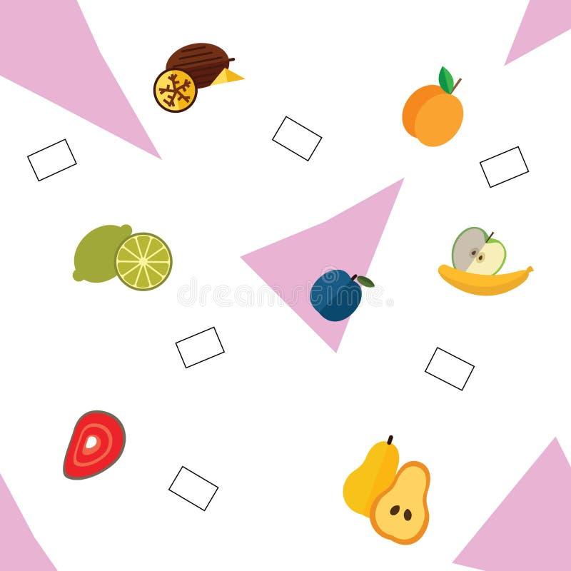 Reizendes Muster von verschiedenen Früchten stock abbildung