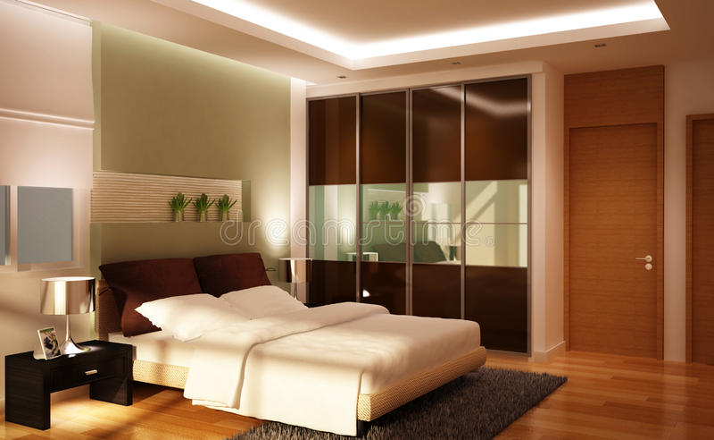 Reizendes Schlafzimmerset lizenzfreie abbildung