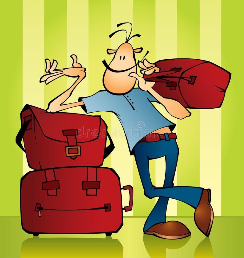 Reiziger stock illustratie