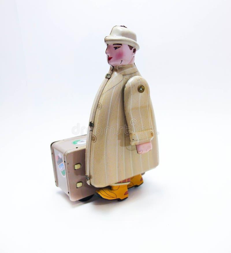 Reiziger Tin Toy royalty-vrije stock afbeelding