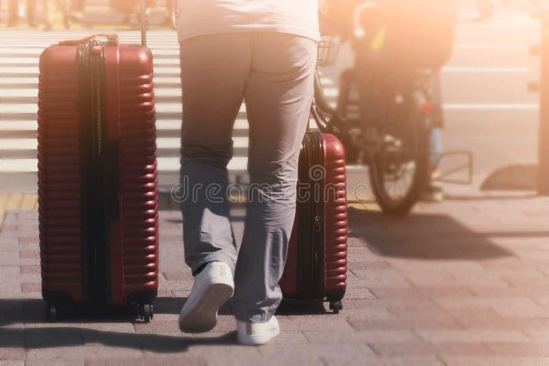Reizigers achtergrondconcept royalty-vrije stock afbeelding