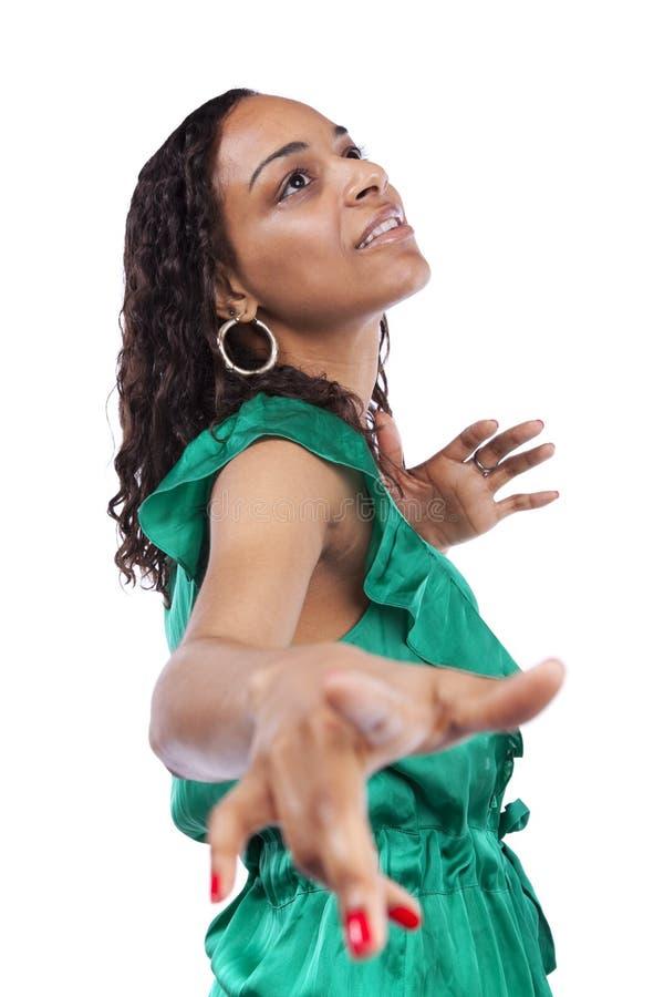 Reizvolle afrikanische Frau stockfotos