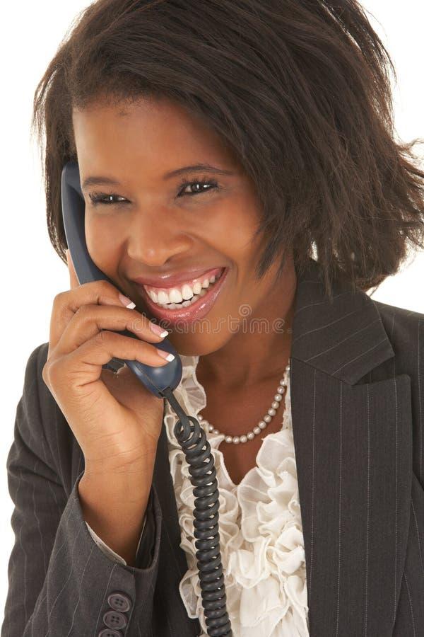 Reizvolle afrikanische Geschäftsfrau stockbild
