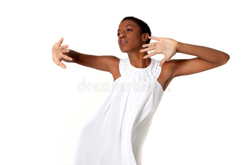 Reizvolle Afroamerikanerfrau lizenzfreies stockbild