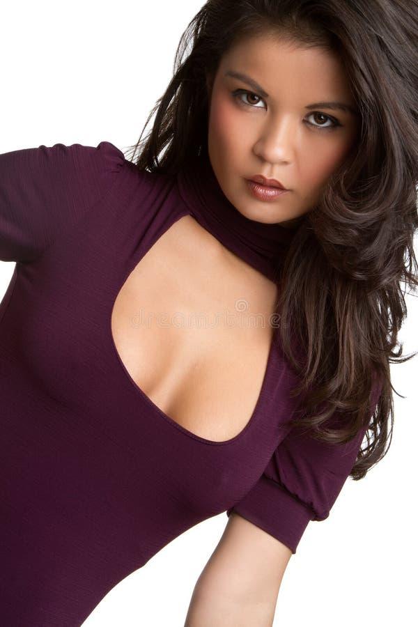 Reizvolle asiatische Frau lizenzfreies stockbild