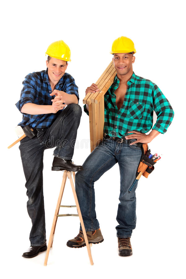 Reizvolle Bauarbeiter lizenzfreie stockfotografie