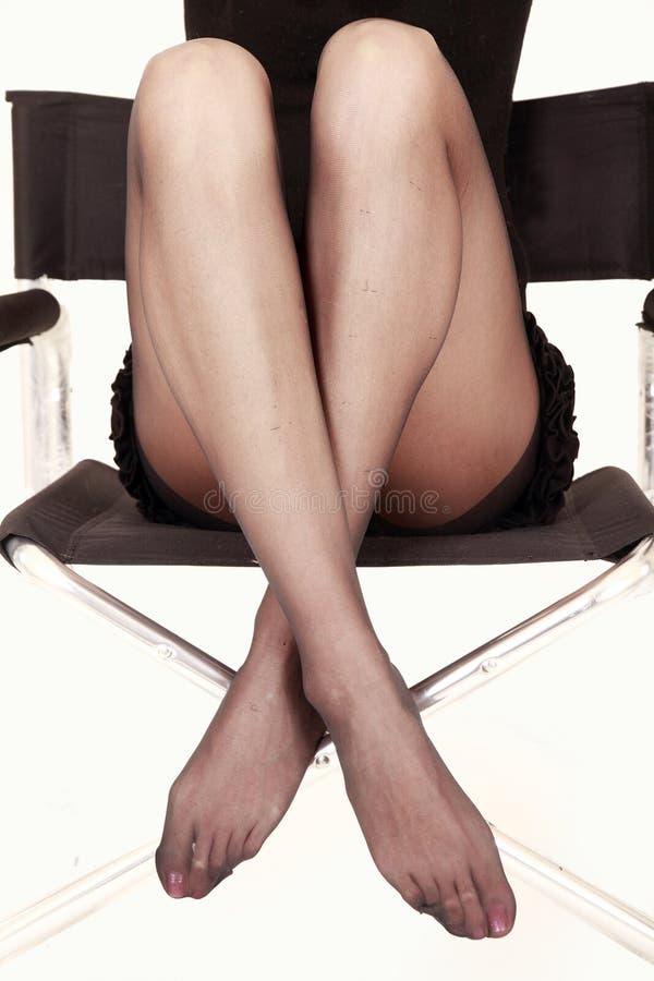 Reizvolle Fahrwerkbeine Im Stuhl Stockfotos