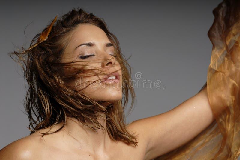 Reizvolle Frau lizenzfreie stockfotos