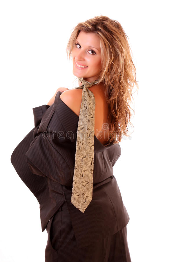 Reizvolle Frau in der Office Suite stockfoto
