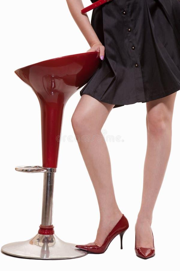 Reizvolle Frauenfahrwerkbeine lizenzfreies stockfoto