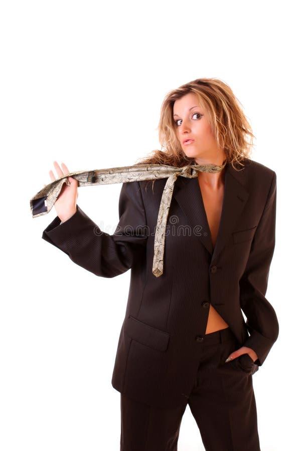 Reizvolle Geschäftsfrau stockbild