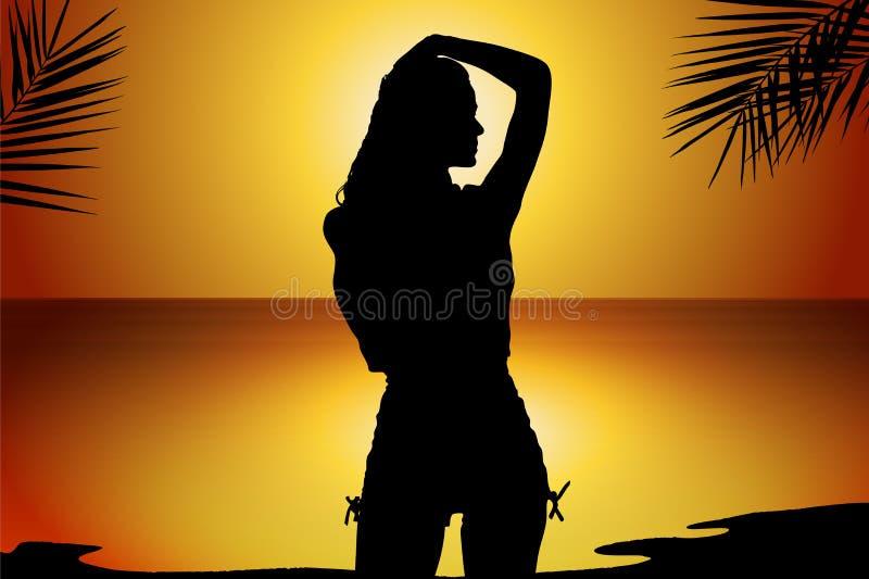 Reizvolle junge Frau lizenzfreie abbildung