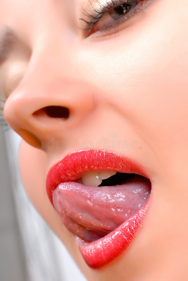 Reizvolle Lippen stockbild