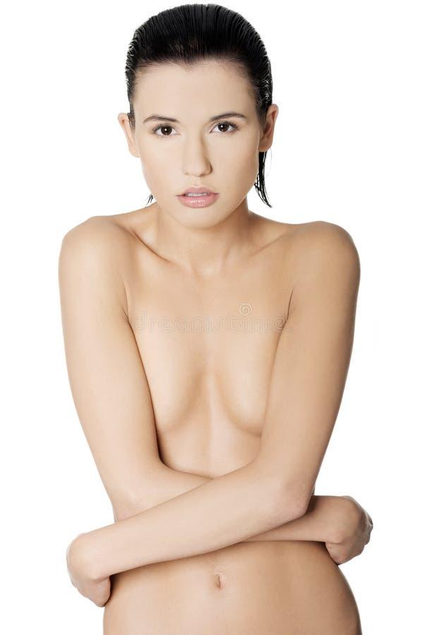 Download Reizvolle toplesse Frau stockfoto. Bild von frisch, kaukasisch - 26366694