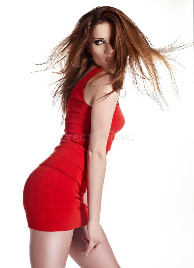 Reizvolle verrückte Frau stockfoto