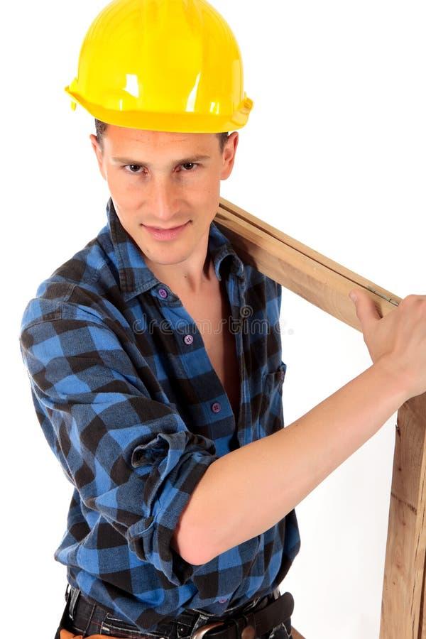 Reizvoller Bauarbeiter stockbilder