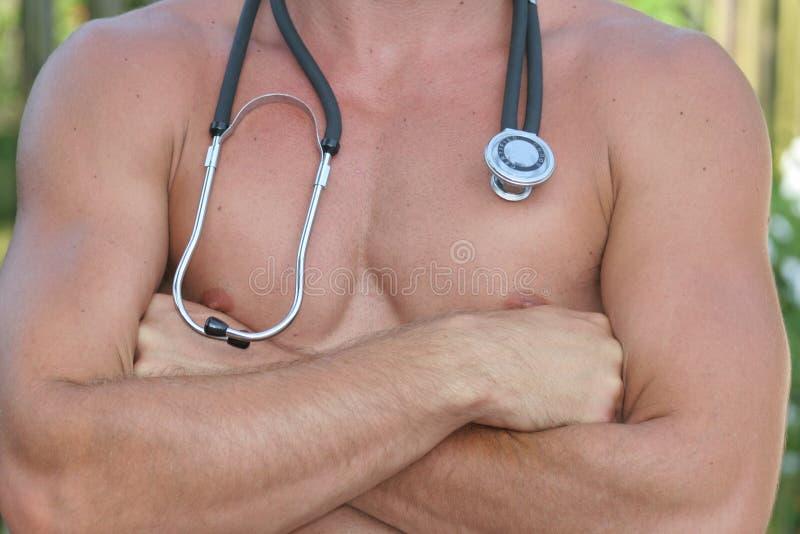 Reizvoller Doktor lizenzfreie stockbilder