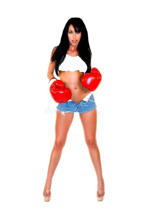 Reizvoller Frauen-Boxer Lizenzfreie Stockbilder