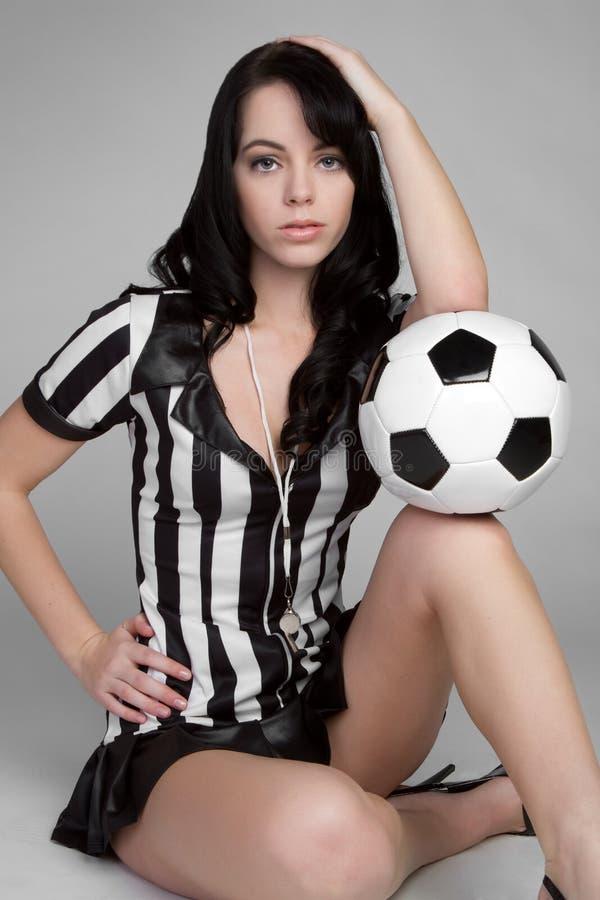 Reizvoller Fußball-Referent lizenzfreie stockfotos