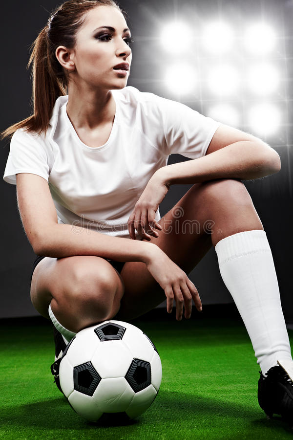 Reizvoller Fußballspieler stockbild