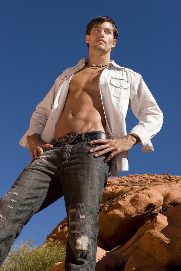 Reizvoller junger Mann lizenzfreie stockfotos