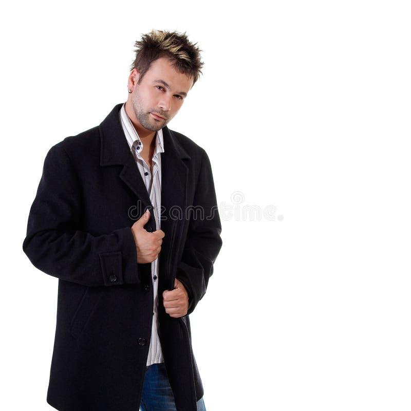 Reizvoller junger Mann auf weißem Hintergrund lizenzfreie stockbilder