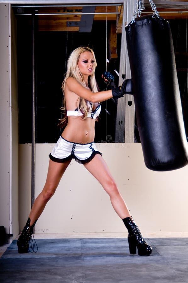 Reizvoller MMA Kämpfer lizenzfreies stockfoto