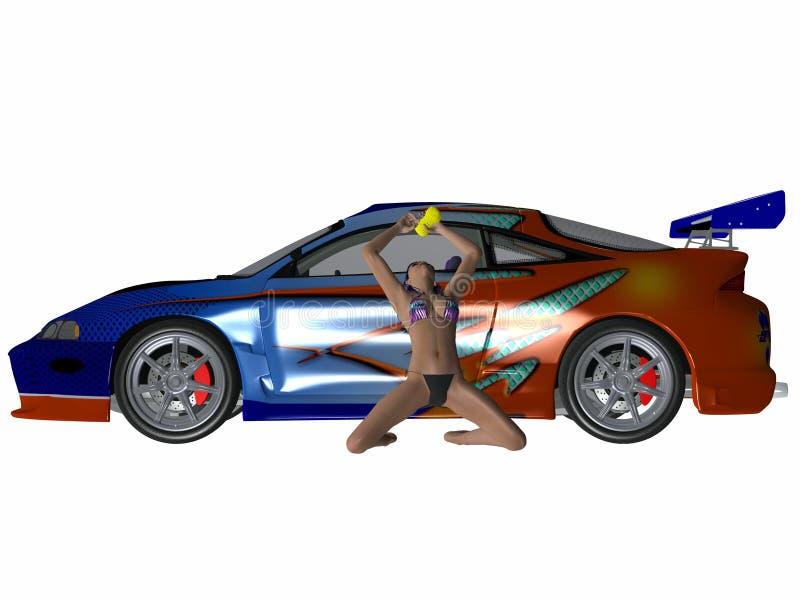 Download Reizvolles Autowäsche stock abbildung. Illustration von konzept - 9091127