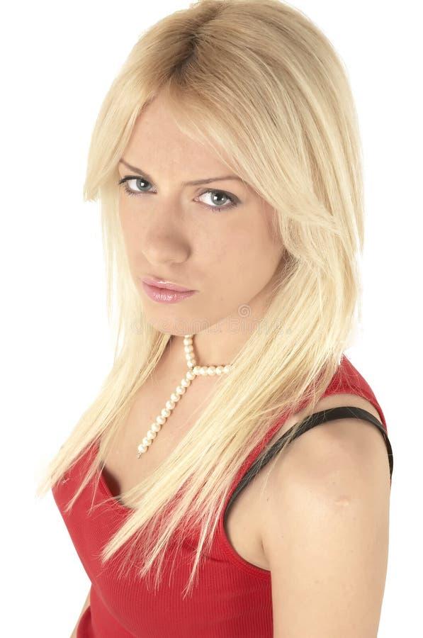 Reizvolles blondie Portrait stockbild