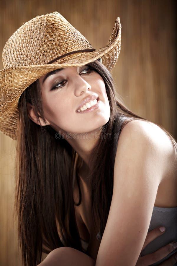 Reizvolles Cowgirl stockfoto