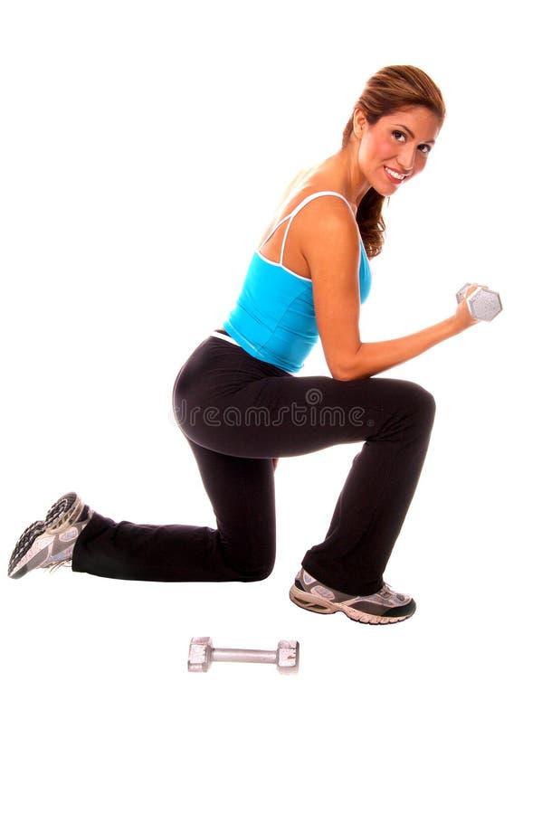 Reizvolles freies Gewicht-Training lizenzfreies stockbild