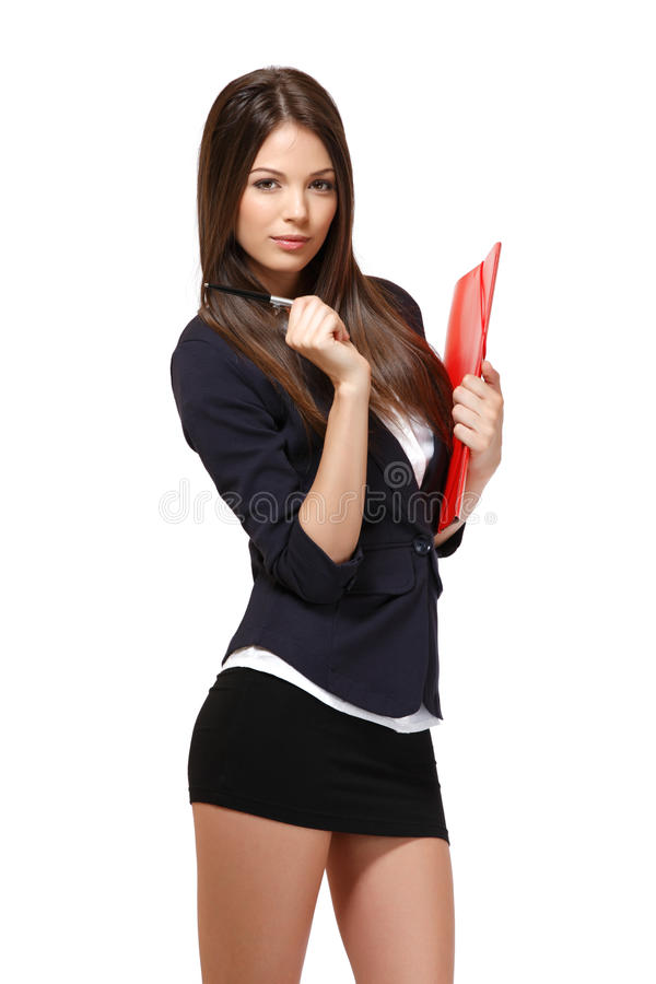 Reizvolles Geschäftsfrauportrait stockbild