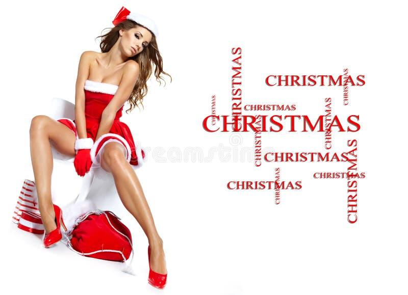 Download Reizvolles Mädchen, Das Weihnachtsmann-Kleidung Trägt Stockbild - Bild von weihnachten, lebensstil: 26372455
