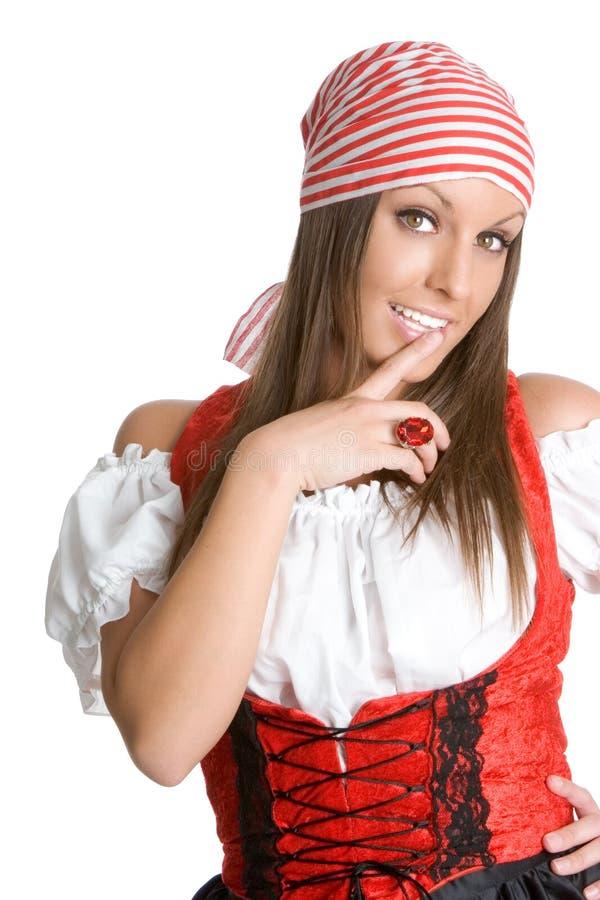 Reizvolles Piraten-Mädchen lizenzfreie stockfotos