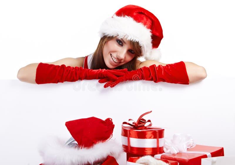 Reizvolles Weihnachtsmädchen stockbild