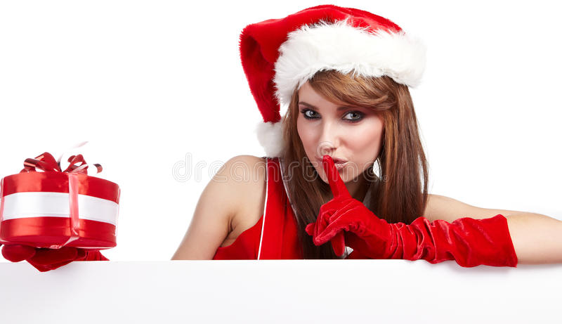 Reizvolles Weihnachtsmädchen stockfoto