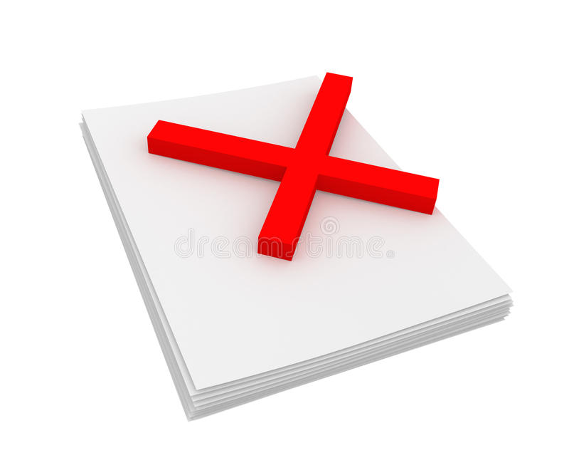 Download Reject stock image. Image of examining, three, sign, mark - 14908621