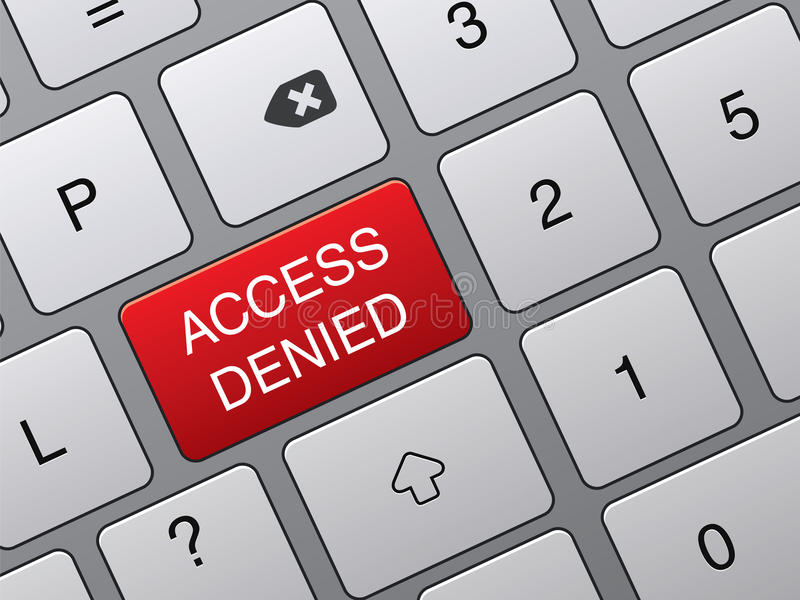 Reject An Access Keypad Royalty Free Stock Images