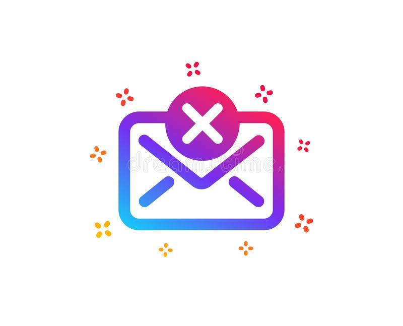 Reject mail icon. Delete message sign. Vector royalty free illustration