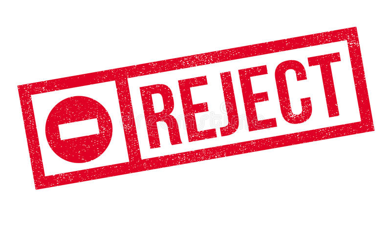 Reject rubber stamp. Grunge design with dust scratches. Effects can be easily removed for a clean, crisp look. Color is easily changed stock images