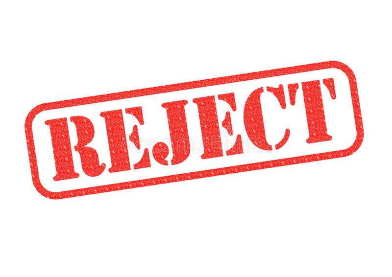 reject stamp stock image  image of white  rejects