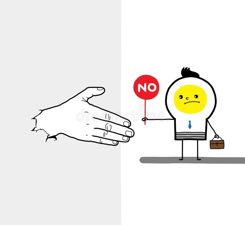 Reject work together stock illustration