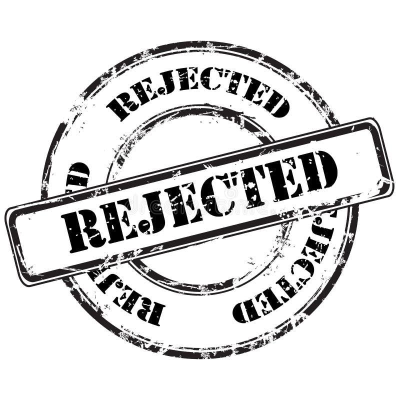 Rejected grunge rubber stamp stock illustration