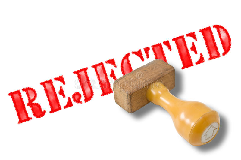 Rejected rubber stamp royalty free stock photo