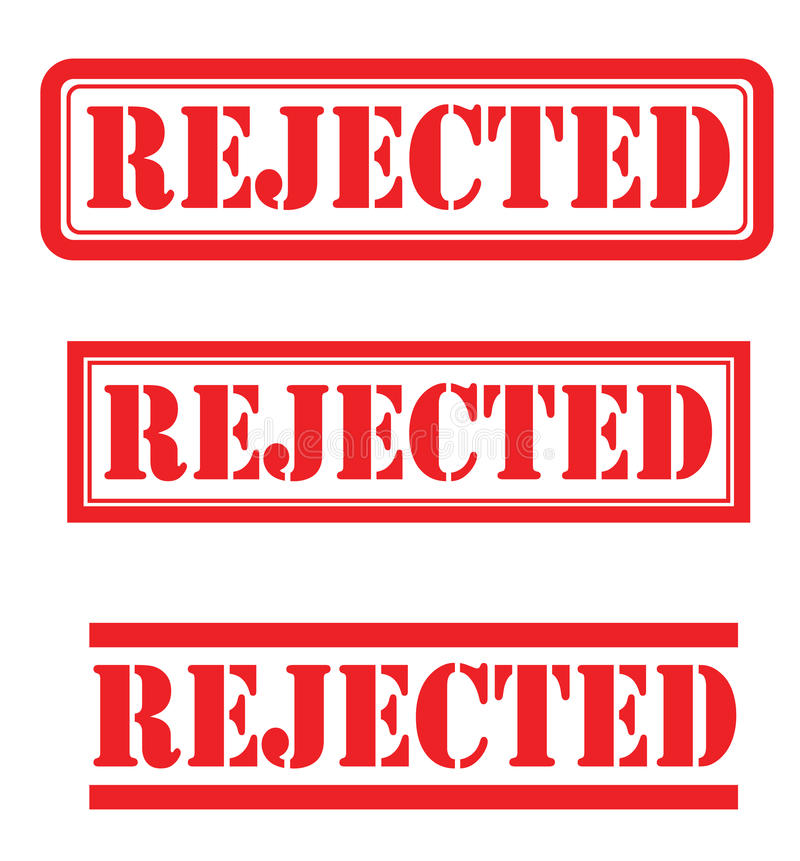 Rejected set royalty free stock photo