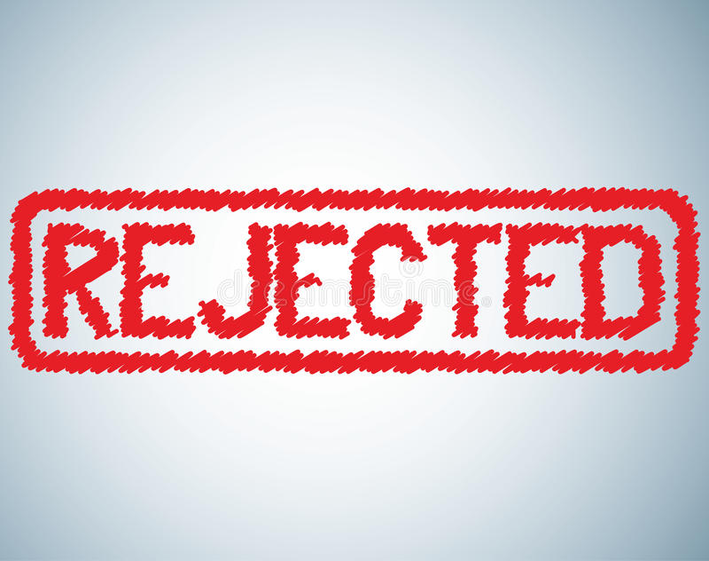 Download Rejected sign stock vector. Illustration of elimination - 22136573