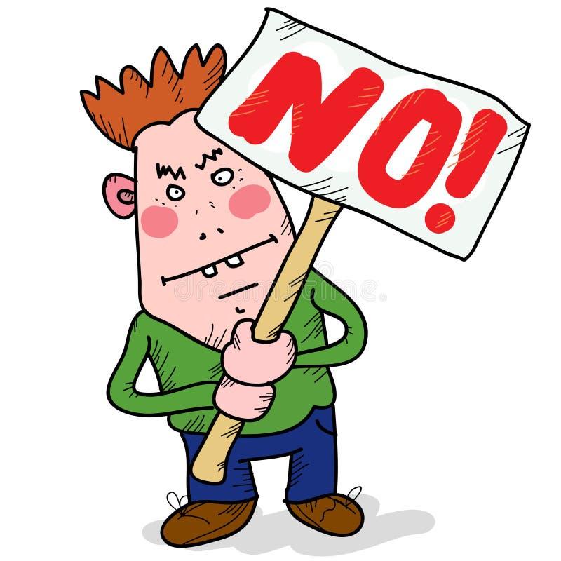 Rejeição ilustração do vetor